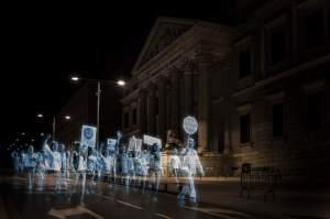 protesto em 3D