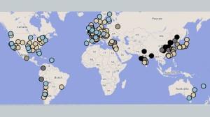 mapa da poluição